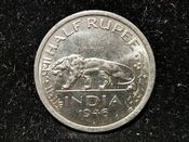 India, George VI, 1/2 Rupee 1946, AEF, WB7580